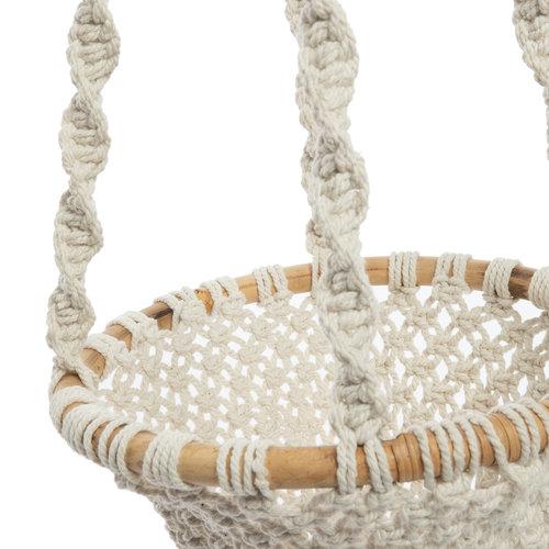 Bazar Bizar The Twisted Macrame Plant Holder - Natural White - L