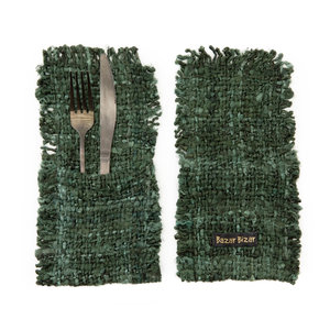 Bazar Bizar The Oh My Gee Cutlery Holder - Forest Green - Set of 4