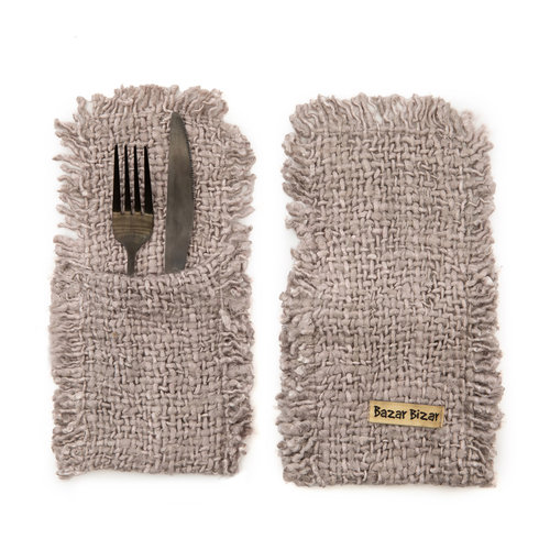 Bazar Bizar The Oh My Gee Cutlery Holder - Pearl Grey - Set of 4