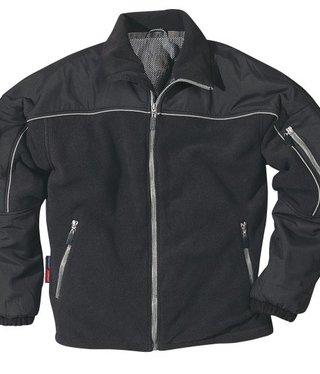 Fristads fleece/nylon werkjas zwart