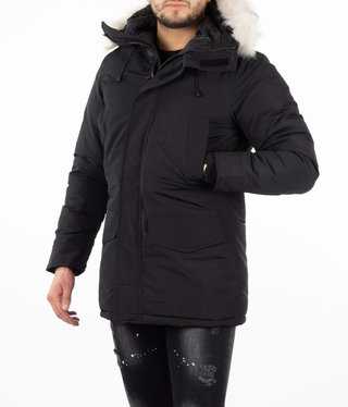 Paris Black Parka Velcro