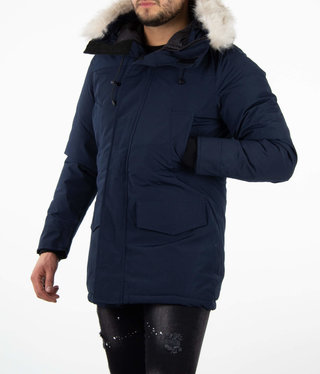 Paris Dark Blue Parka Velcro