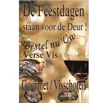 Poster (De feestdagen staan voor de deur. Wijnglas)