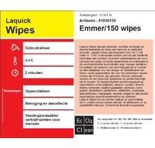 Laquick Wipes emmer a 150 stuks desinfectiedoekjes