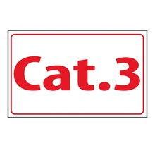 Tekststicker - Cat.3