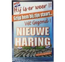 Poster Nieuwe Haring (Grijp hem bij zijn staart)
