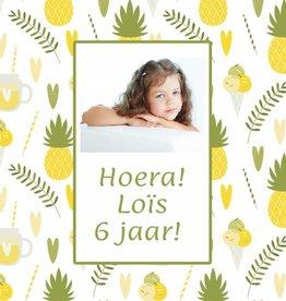 Bellenblaas ananas ijs hartje