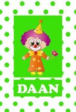 Bellenblaas Clown met tekst
