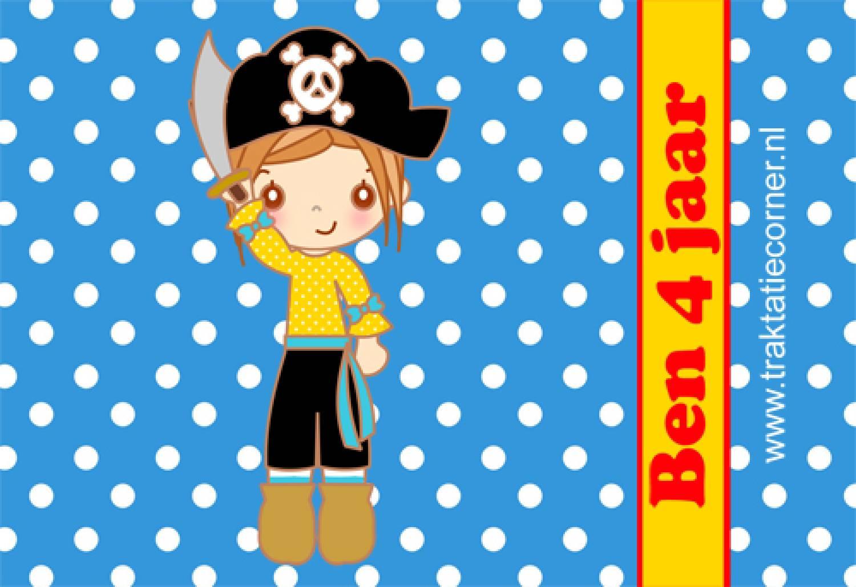 Bellenblaas Piraat met tekst naar wens