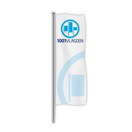 Hoogformaat vlag zonder tunnel bedrukt met eigen logo/ontwerp