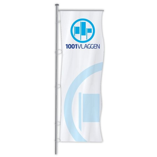 Baniervlag bedrukt met eigen logo/ontwerp