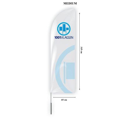 Beachflag straight bedrukt met eigen logo/ontwerp