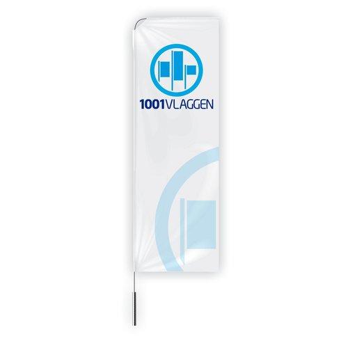 Beachflag banier bedrukt met eigen logo/ontwerp