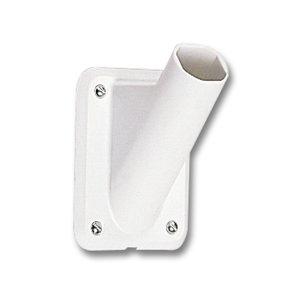 Vlaggenstokhouder kunststof (wit) 30 mm
