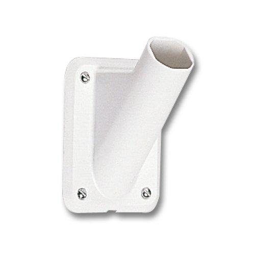 Vlaggenstokhouder kunststof (wit) 30 mm voor gevelstok