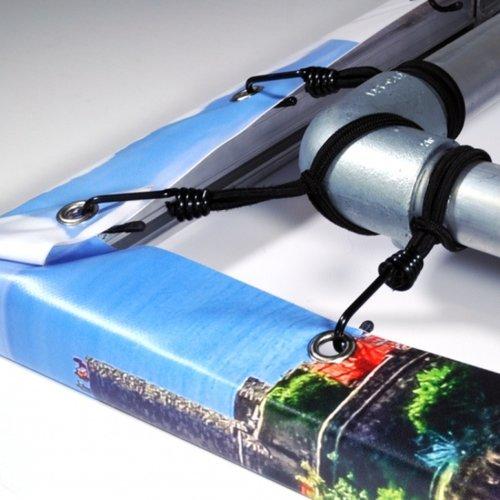 Set spanners met spinhaak voor spandoek met blind spandoekframe