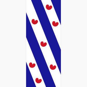 Baniervlag Friesland zonder tunnel