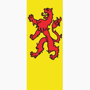 Baniervlag Zuid-Holland zonder tunnel