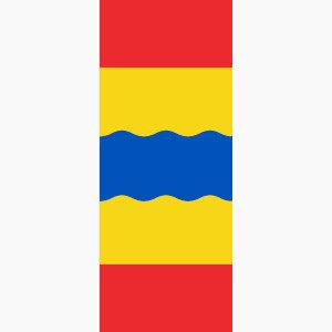 Baniervlag Overijssel zonder tunnel