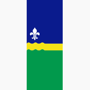 Baniervlag Flevoland zonder tunnel
