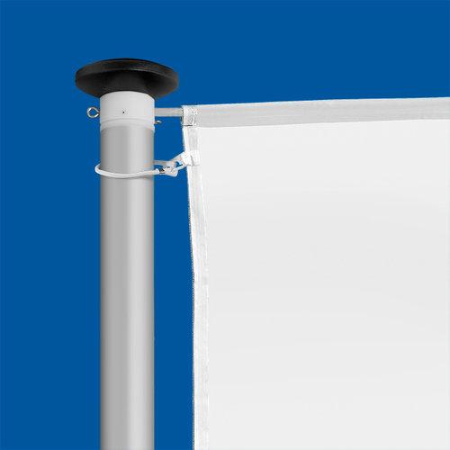 Aluminium mast Ø 70 mm (budgetmast) met banierhouder