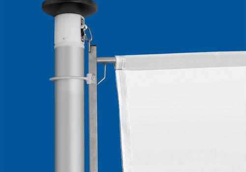 Aluminium mast Ø 90 mm met hijsbare banierhouder