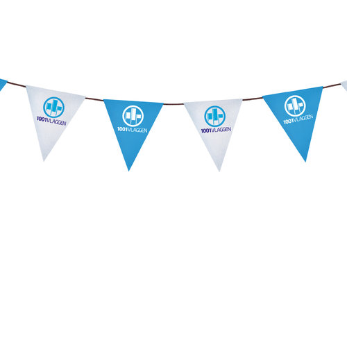 Vlaggenlijn bedrukt met eigen logo/ontwerp