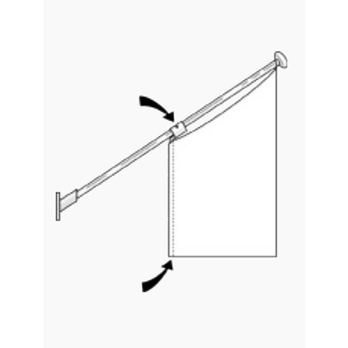 Rechthouder kioskvlag Ø 30 mm voor vlaggenstok