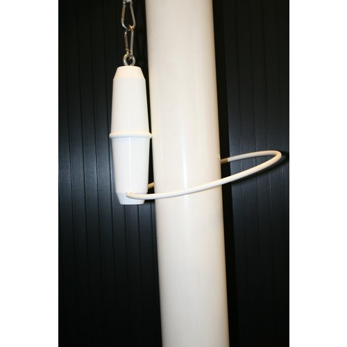 Gewicht met ring t.b.v. vlaggenmast met banierhouder of inwendige vlaggenlijn