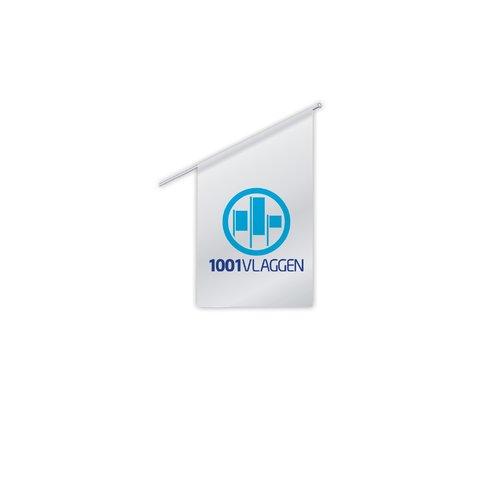 Kioskvlag of winkelvlag bedrukt met eigen logo/ontwerp