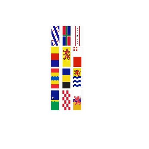 Provinciebanieren Nederlandse provincies zonder tunnel