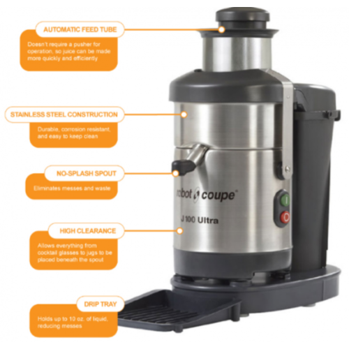 Robot Coupe Automatic Juicer Extractor J100 / J100 ULTRA | FREE SHIPPING