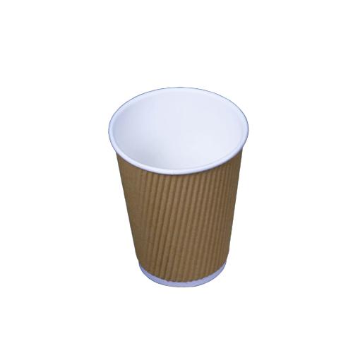 Kraft Ripple Cup 12 oz - 500 pieces