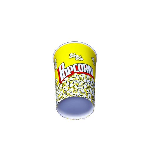 Round Pop Corn Tub 46 oz - 500 pieces