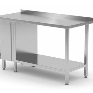 Stainless Steel Work Table With Bottom Shelf, Storage Cabinet (Left) | FREE SHIPPING & INSTALLATION