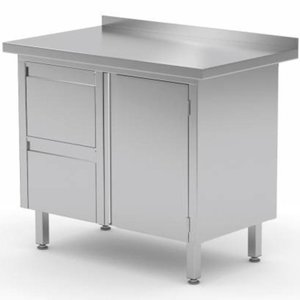 Stainless Steel Cabinet with Hinged Door and 2 Drawers (Left) | FREE SHIPPING & INSTALLATION