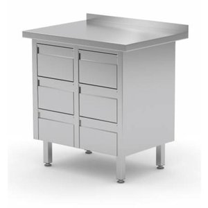 Stainless Steel Cabinet with 2 sets bank of drawers | FREE SHIPPING & INSTALLATION
