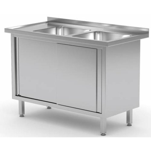 Stainless Steel Cabinet with Double bowl sink | FREE SHIPPING & INSTALLATION