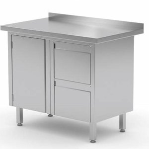 Stainless Steel Cabinet with Hinged door & Drawer (Right) | FREE SHIPPING & INSTALLATION