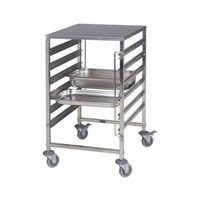 Stainless Steel GN 2 x 1/1 Tray Trolley | FREE SHIPPING & INSTALLATION