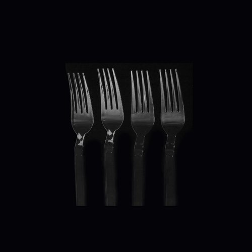 Black Heavy Duty Plastic Fork