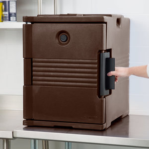 Cambro Dark Brown Front Loading Insulated Food Pan Carrier