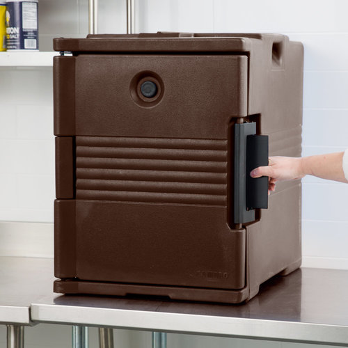 Cambro Dark Brown Front Loading Insulated Food Pan Carrier | UPC400131 | Ultra Pan Carrier®| Holds 6 Pans