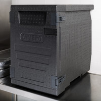 Black Full Size Front Loader Insulated Food Pan Carrier | EPP400110