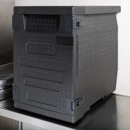 """Cambro Black Full Size Front Loader Insulated Food Pan Carrier 