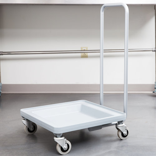 Cambro Soft Gray Camdolly Dish / Glass Rack Dolly with  Handle | CDR2020H