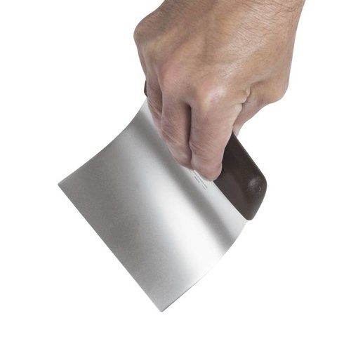 Paderno Dough Scraper Flexible - Stainless steel, polypropylene