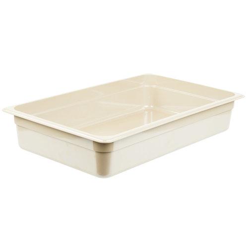 "Cambro Full Size Sandstone High Heat Plastic Food Pan | 14HP772| 4"" Deep | X-Pan"
