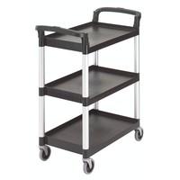 Black Three Shelf Utility Cart (Unassembled)