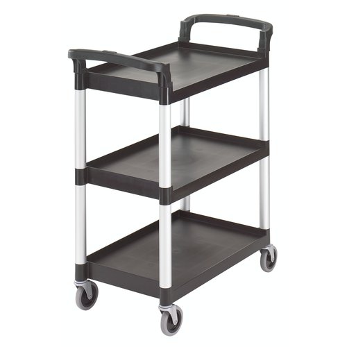 Cambro Black Three Shelf Utility Cart (Unassembled)